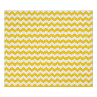yellow  white chevrons poster