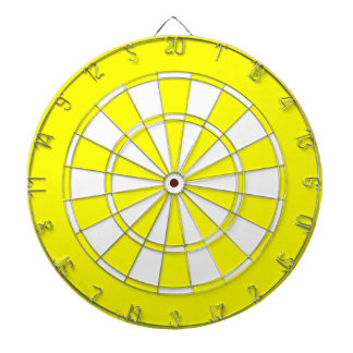 Yellow White colored Dartboard