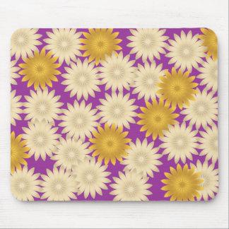 Yellow White Daisies Purple Mousepad