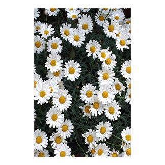 Yellow & white daisies stationery