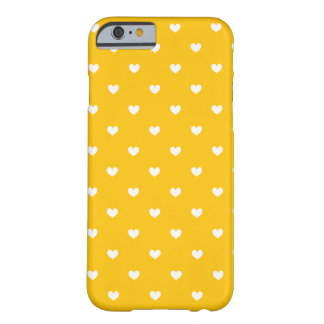 Yellow & White Hearts Pattern iPhone 6 case Barely There iPhone 6 Case