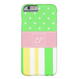 Yellow, White, Lime Green Monogrammed Cell Case
