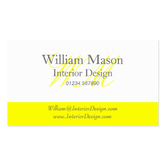 Yellow & White Professional Business Card