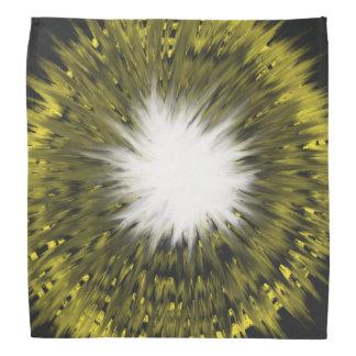 Yellow White Starburst Abstract Art Painting Bandana