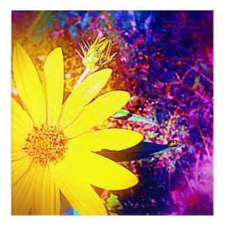 Yellow Wildflower Acrylic Wall Art