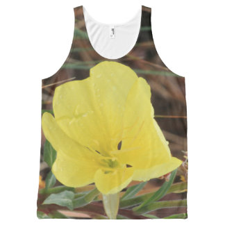 Yellow Wildflower All-Over Print Singlet