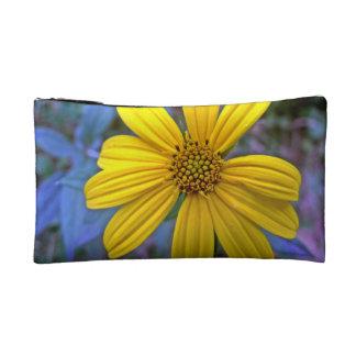 Yellow Wildflower Makeup Bag