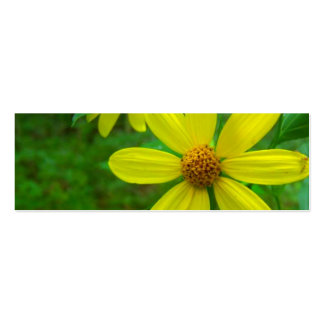 Yellow Wildflower Bookmark Business Card Template