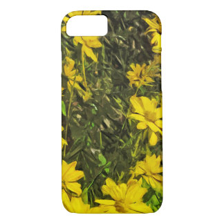 Yellow Wildflower Daisies Abstract iPhone 7 Case