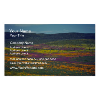 Yellow Wildflower field flowers Business Cards
