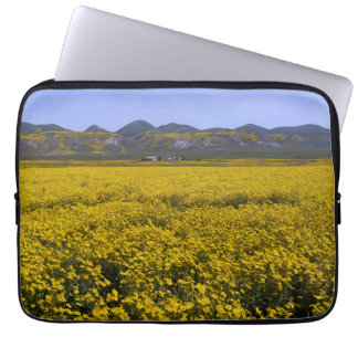 Yellow Wildflower Field Landscape Laptop Sleeve