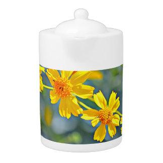 Yellow Wildflower Medium Teapot