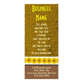 Yellow Wildflower Rack Card Template