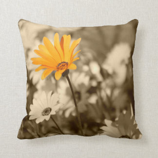 Yellow Wildflower Standout Pillow