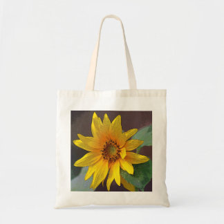Yellow Wildflower Tote Budget Tote Bag