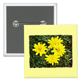 Yellow Wildflowers Pin