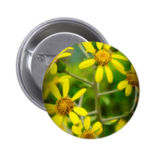 Yellow Wildflowers Pinback Button