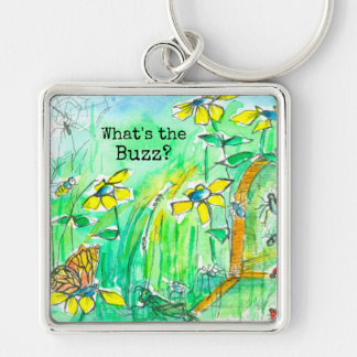 Yellow Wildflowers Bees What's The Buzz Key Ring
