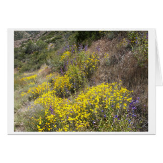 Yellow Wildflowers Blank Note Card Greeting Card