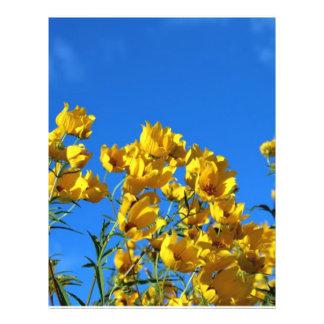 Yellow Wildflowers Bright Sky Flyer Design