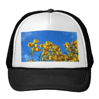 Yellow Wildflowers Bright Sky Trucker Hat