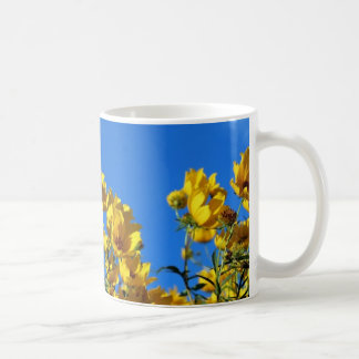 Yellow Wildflowers Bright Sky Mugs
