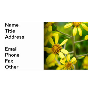 Yellow Wildflowers Business Cards