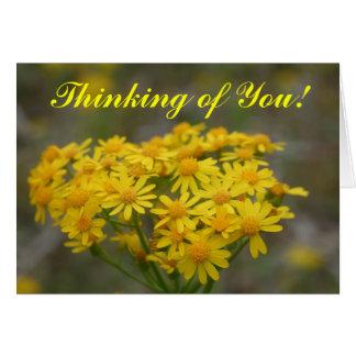 Yellow Wildflowers Card