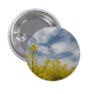 Yellow Wildflowers in the Sky Pinback Button