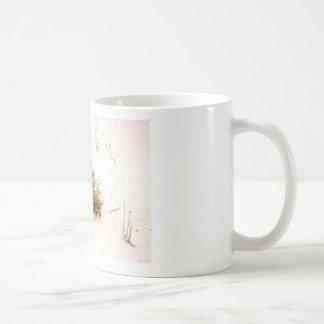 Yellow Wildflowers in White Sand Basic White Mug