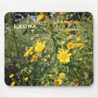 Yellow Wildflowers Mouse Pad