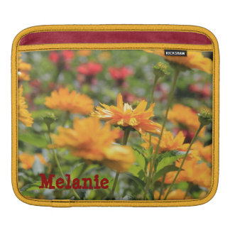 Yellow Wildflowers, Personalized iPad Sleeve