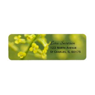 Yellow Wildflowers Return Address Label