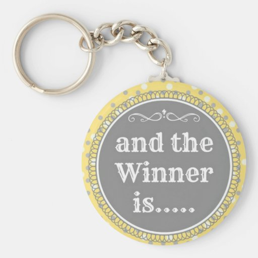 Yellow Winner Key Chain
