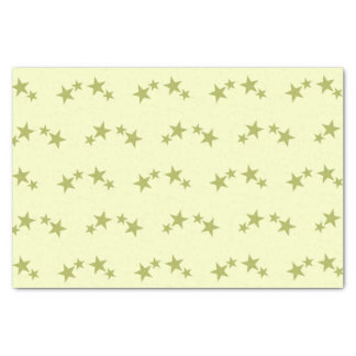 Yellow with lime green stars tissue paper