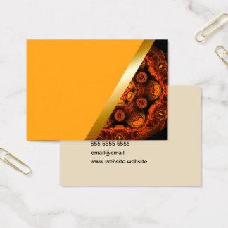 Yellow with orange kaleidoscope business card 1