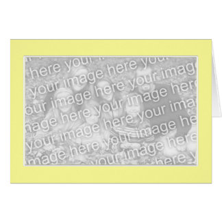 Yellow with White Border photo frame Greeting Cards