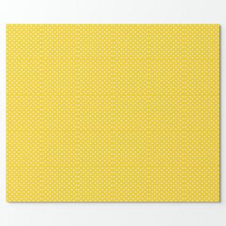Yellow with white Polka-Dot
