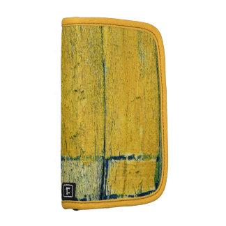 Yellow wood smartphone folio folio planners