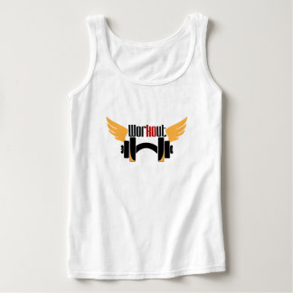Yellow Workout wing Singlet