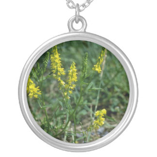 yellow Yellow Sweet-Clover (Melilotus Officinalis) Personalized Necklace
