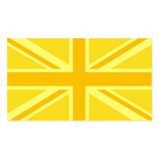 Yellow Yellow Union Jack British Flag Background Business Card Templates