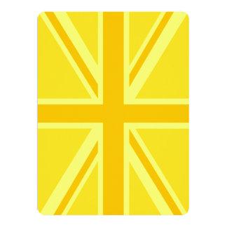 Yellow Yellow Union Jack British Flag Background Card