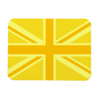 Yellow Yellow Union Jack British Flag Background Magnet