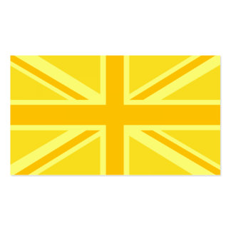 Yellow Yellow Union Jack British Flag Background Pack Of Standard Business Cards