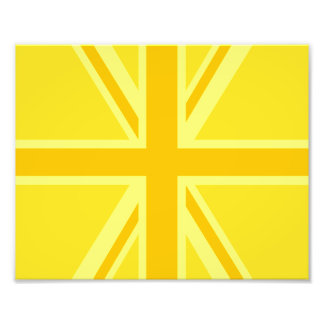 Yellow Yellow Union Jack British Flag Background Photo Print