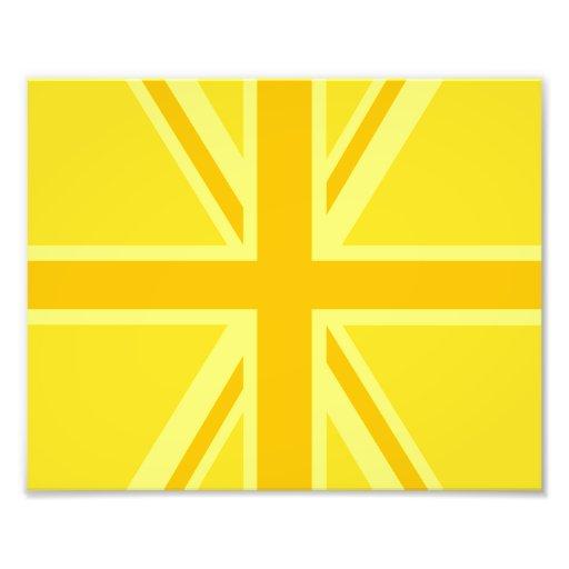 Yellow Yellow Union Jack British Flag Background Photographic Print