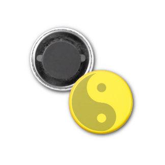 Yellow Yin Yang Spiritual Energy Balance Symbol 3 Cm Round Magnet