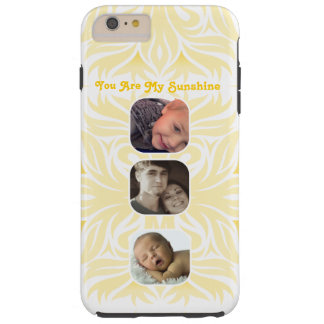 Yellow You Are My Sunshine Floral Photo Collage Tough iPhone 6 Plus Case
