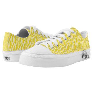 Yellow Zebra Animal Print Pattern Printed Shoes